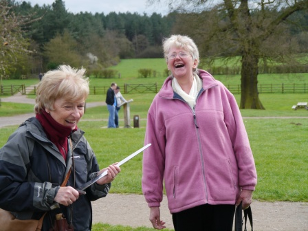 This woman appears to be enjoying heritage - thanks to a heritage interpreter.