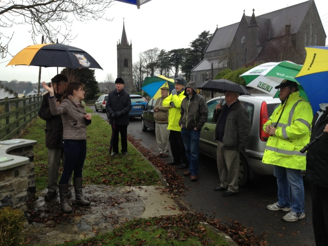 Raining on the Thomastown tour - but great guiding by Sophie.