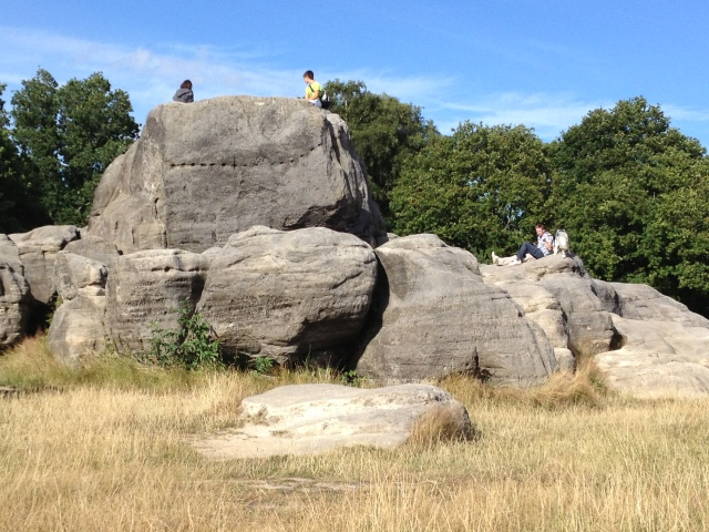 Generations of Tunbridge  Wells people have met at and climbed on Wellington Rocks on Tunbridge Wells Common.